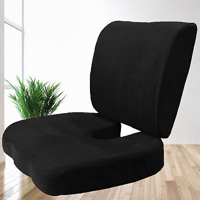2 PC SET Memory Foam Back & Seat Cushion Pillow New Design 4 Large Office Chairs