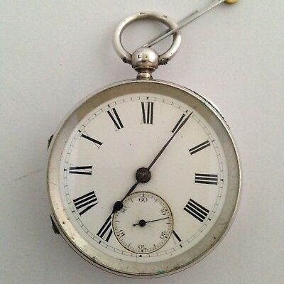 Sterling Silver Fusee Pocket Watch - Ford Galloway & Co - Chester 1887 - WORKING