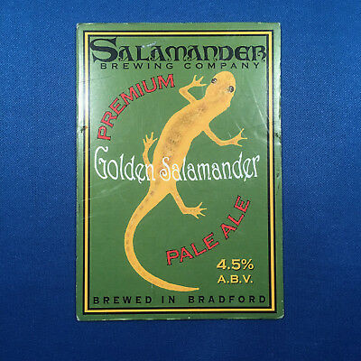 SALAMANDER Golden beer pump clip - Bradford Brewery *FREE P&P WITH OTHERS*
