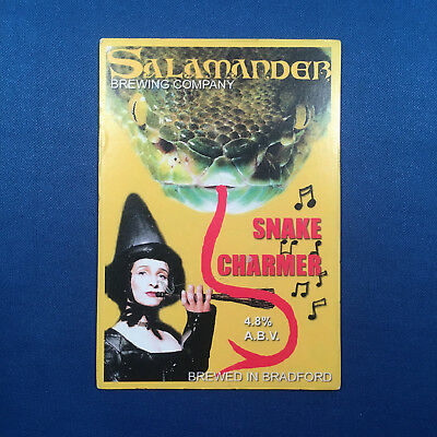 SALAMANDER Snake Charmer beer pump clip - Bradford Brew *FREE P&P WITH OTHERS*