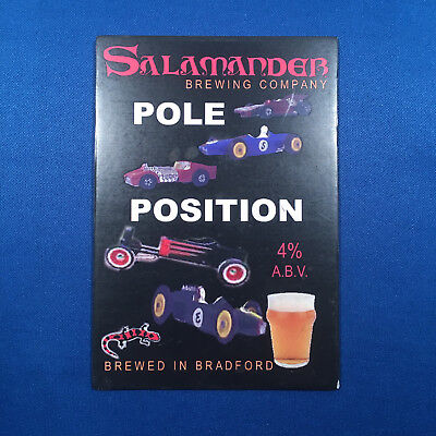 SALAMANDER Pole Position beer pump clip - Bradford car race *FREE P&P W/OTHERS*