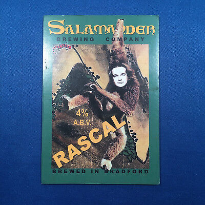 SALAMANDER Rascal beer ale pump clip - Bradford Brewery *FREE P&P WITH OTHERS*