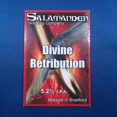 SALAMANDER Devine Retribution beer pump clip - Bradford  *FREE P&P WITH OTHERS*