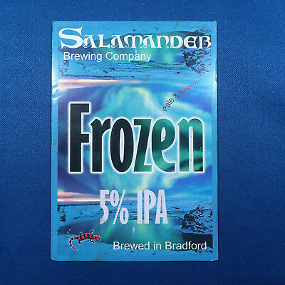 SALAMANDER Frozen beer ale pump clip - Bradford Brewery *FREE P&P WITH OTHERS*