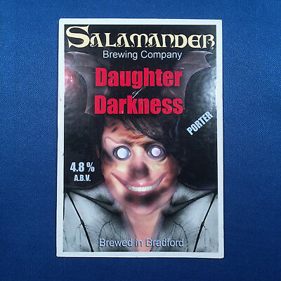 SALAMANDER Daughter Darkness beer pump clip - Bradford *FREE P&P WITH OTHERS*