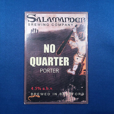 SALAMANDER No Quarter beer pump clip - Bradford Brewery *FREE P&P WITH OTHERS*