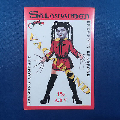 SALAMANDER Vagabond beer pump clip - Bradford Brewery *FREE P&P WITH OTHERS*
