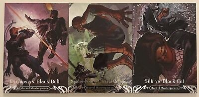 2018 Marvel Masterpieces Battle Spectra 3 Card Lot