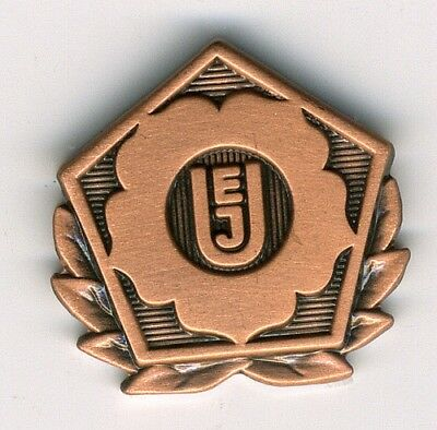 rare UEJ Union European Judo - Federation pin Bronze model 2