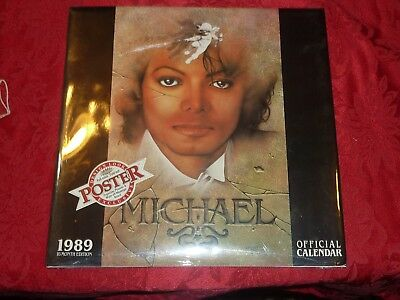 Vintage Michael Jackson Official Calendar 1989 16 Month Edition Brand New Poster