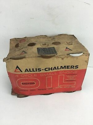 Box Only Vintage Allis Chalmers 4 Cycle Small Engine Motor Oil Can Box Only