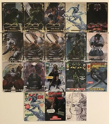 2018 Marvel Masterpieces Base And Insert Lot
