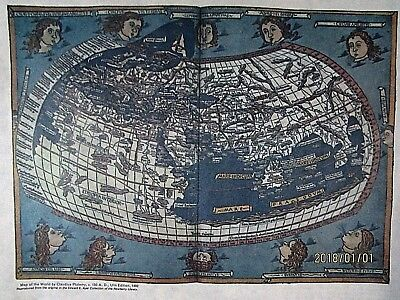 Print, Map of the World by Claudius Ptolemy, c. 150 A. D.