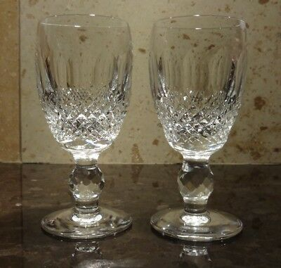 "*VINTAGE* Waterford Crystal COLLEEN (1953-) Set 2 Sherry Wine Glass 4 1/4""  2 oz"