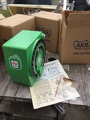 Vintage S & H Green Stamps Machine Working & Key