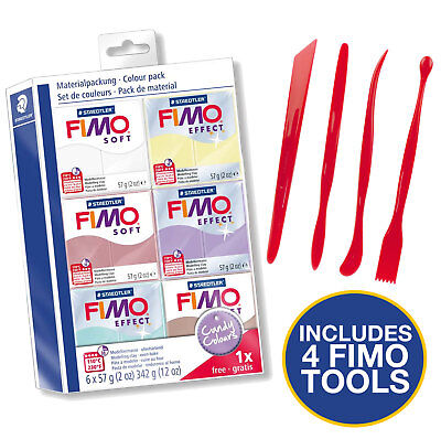 Fimo Starter Kit 6 Colours And Tool Set - Candy Colours Set