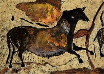 ACEO - Cave Painting 'Horse'..original acrylic by JEB