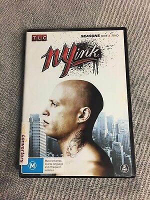 NY Ink, Complete Seasons 1 & 2, 5 DVD Disc Set.