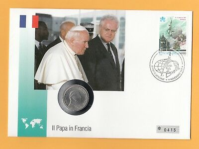Frankreich 1 * Johannes Paul Ii. * Numisbrief Vatikan * Papst Besuch In France