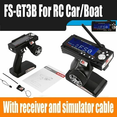Flysky FS-GT3B 2.4G 3CH Transmitter + Receiver for RC Car Vehicle Radio ContV/