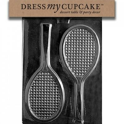 Dress My Cupcake DMCS031 Chocolate Candy Mould, Tennis Racquet. Free Shipping