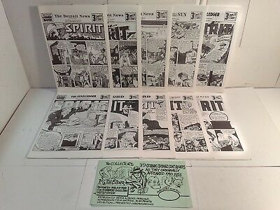 The Collector's The Spirit Reprints - 10 Comic Book Sections - Will Eisner