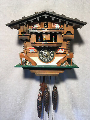Black Forest REGULA Mechanical Musical & Dancers  Cuckoo Clock