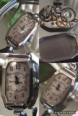 1930's Ladies Art Deco Gruen Guild Nurses Watch~ Serviced ~ Case ~ Runs