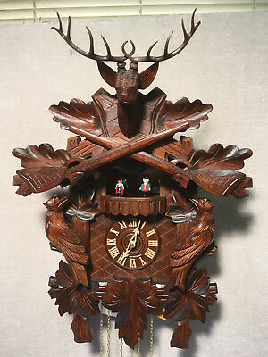 Black Forest, 8 Day  Mechanical  Musical  Cuckoo Clock,  Large 50cm