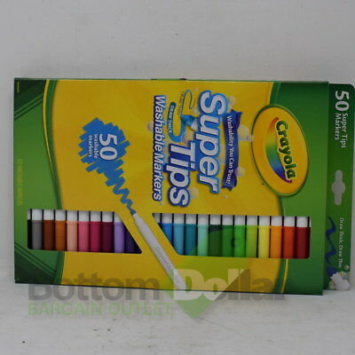 Crayola Super Tips Draw Thin, Draw Thick 50 Washable Markers