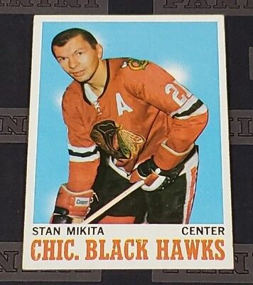 1970-71 Topps #2- Stan Mikita - Chicago BlackHawks HOF