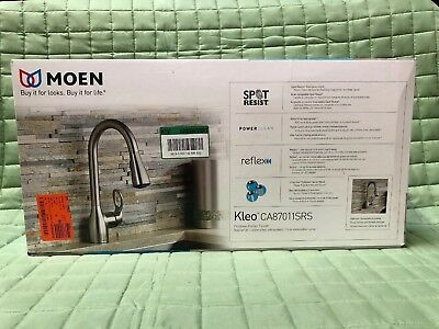 New Moen Single Handle Kitchen Faucet w/Pullout Spray from the Kleo CA87011SRS