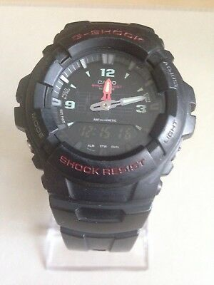 Casio G-Shock Mens Black Combi Resin Strap Watch G-100-1BVMUR.