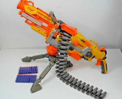 Nerf Havoc Fire EBF25 Large Outdoor Rapid Fire. With Belt, Stand & 20 New Darts.