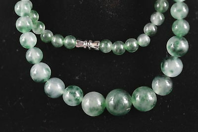 Chinese Decorate Burnish Jade Carve Natural Texture Bead Special Noble Necklace