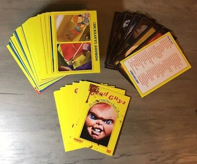 Good Guys Chucky Child's Play Trading Card Set With Stickers Fright-Rags Horror