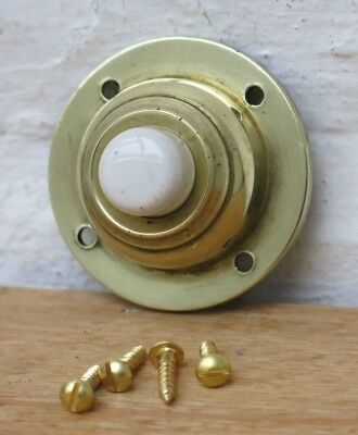 (2 AVAILABLE) Vintage BRASS Door Bell Push (FIXING SCREWS INCLUDED)