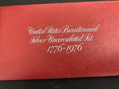 1976 40% Silver Bicentennial 3 Coin Genuine U.S. Mint Set Issued by U.S. Mint