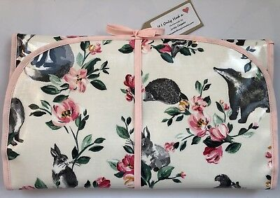 Cath Kidston Badgers And Friends Oilcloth Baby Travel Changing Mat Wipe Clean
