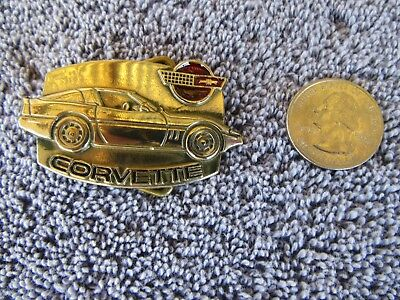 NOS Vintage CORVETTE Baron Solid Brass Belt Buckle