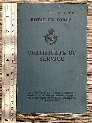 RAF 1930s Certificate Of Service Vintage Royal Air Force Document