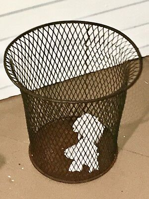 Mid Century 1930s Industrial Wire Mesh Waste Basket NEMCO Trash Can