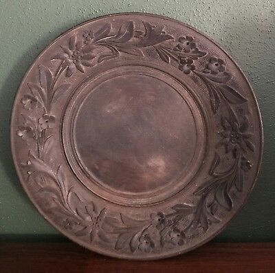 Antique German Black Forest Carved Wooden Plate