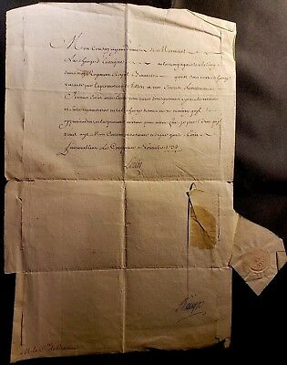 King Louis Xv Autograph – Military Appointment Signed On November, 5 1733