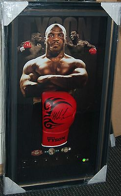 Mike Tyson Hand Signed Framed Limited Tattoo Glove Proof Ali Pacquiao Frazier