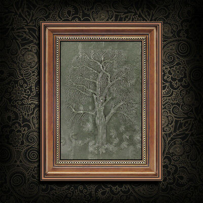Framed Carved Tree Nymph Relief EJ300009