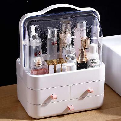 Clear Cover Makeup Cosmetic Organiser Rotating Brush Drawer Desk Storage Acrylic