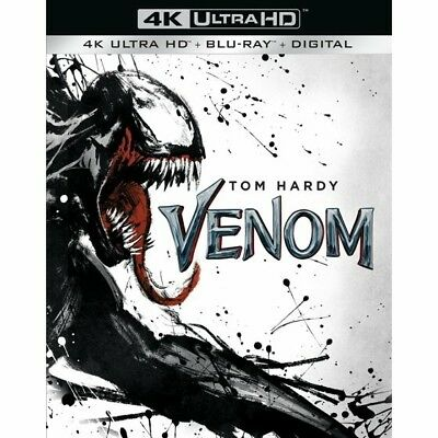 Venom 4K plus blu ray With Case, Cover & Slipcover and digital code