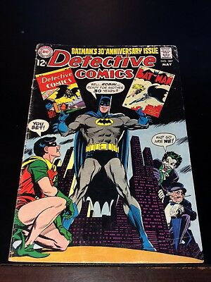 1969 BATMAN DETECTIVE COMICS #387 JOKER PENGUIN cvr movie 30th Anniversary VG