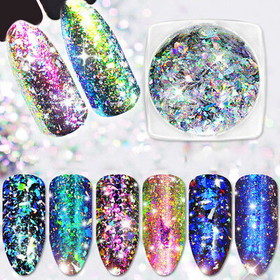 Mixed Nail Art Glitter Sequins Powder Dust for UV Gel Acrylic Decoration Tips